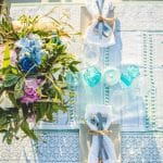 Blue island wedding decoration