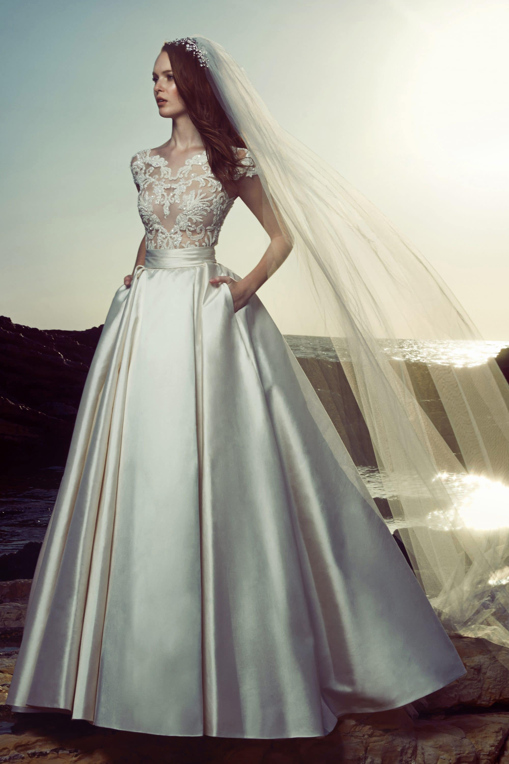 Ball gown wedding dress with laced bustier Zuhair Murad | The ...