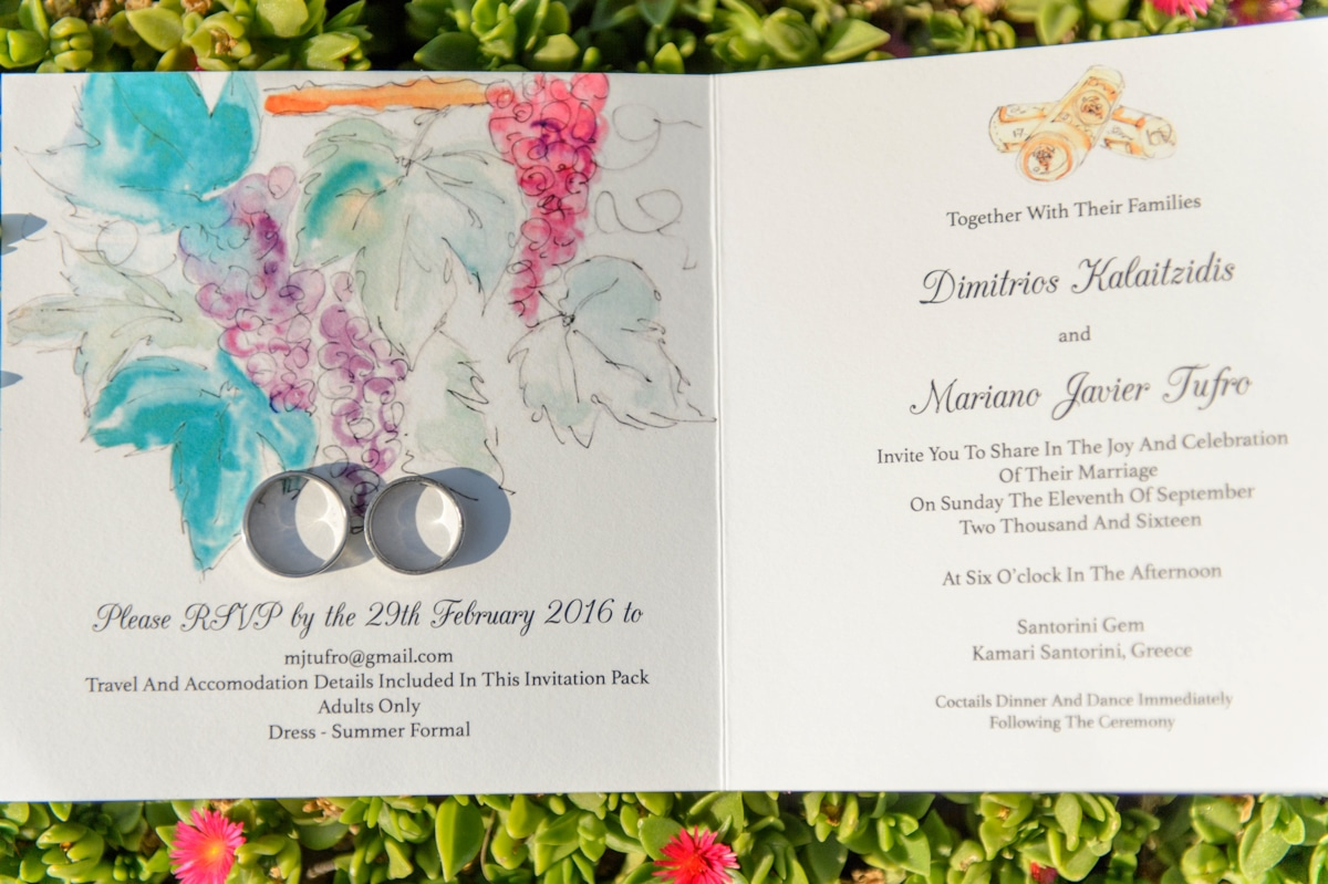 Watercolor πορσκλητήριο γάμου