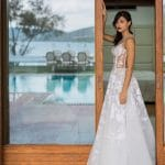 A line wedding dress with transparencies Kathy Heyndels