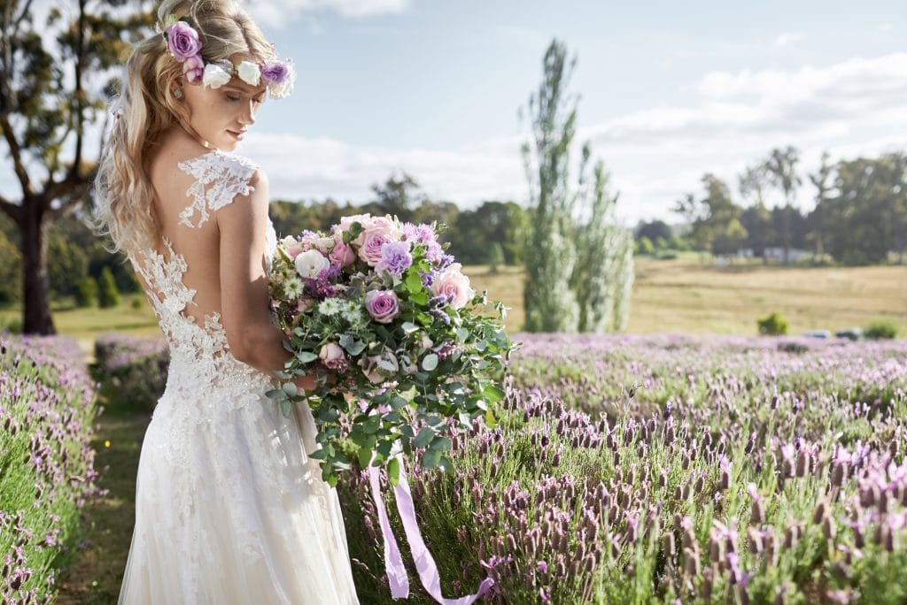 Ideas for a boho rustic wedding with lavender