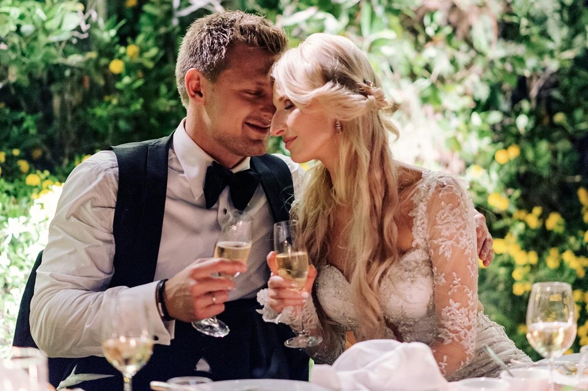 Ρομαντικός elegant σικ γάμος στην Αθήνα