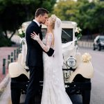 Vintage car for the bride and groom