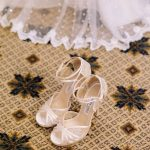 White laced bridal shoes Jimmy Choo