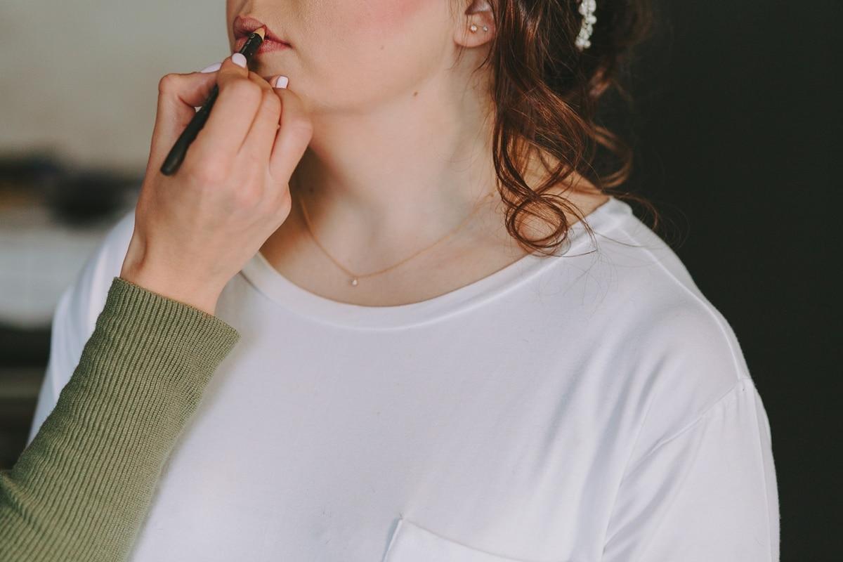 Bridal makeup rehearsal