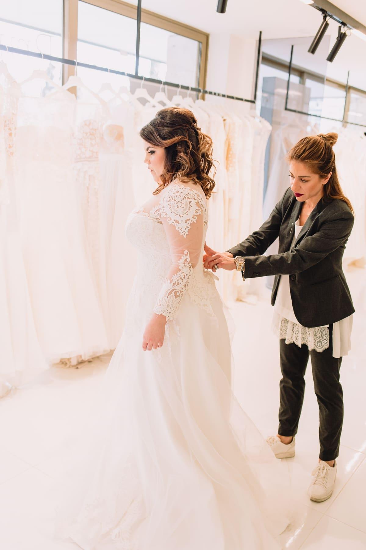 Wedding dress rehearsal