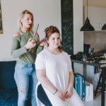 Bridal hair-styling rehearsal