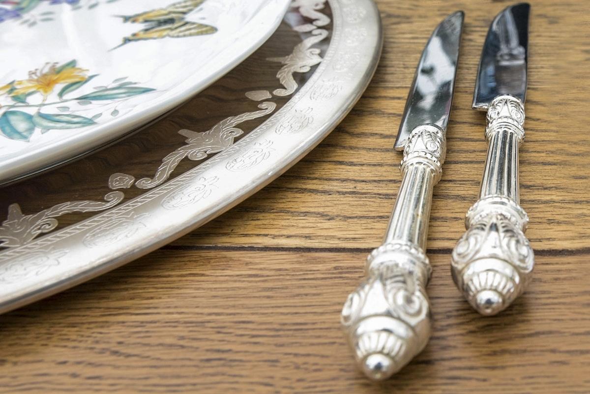 Ασημένια μαχαιροπήρουνα για γάμο