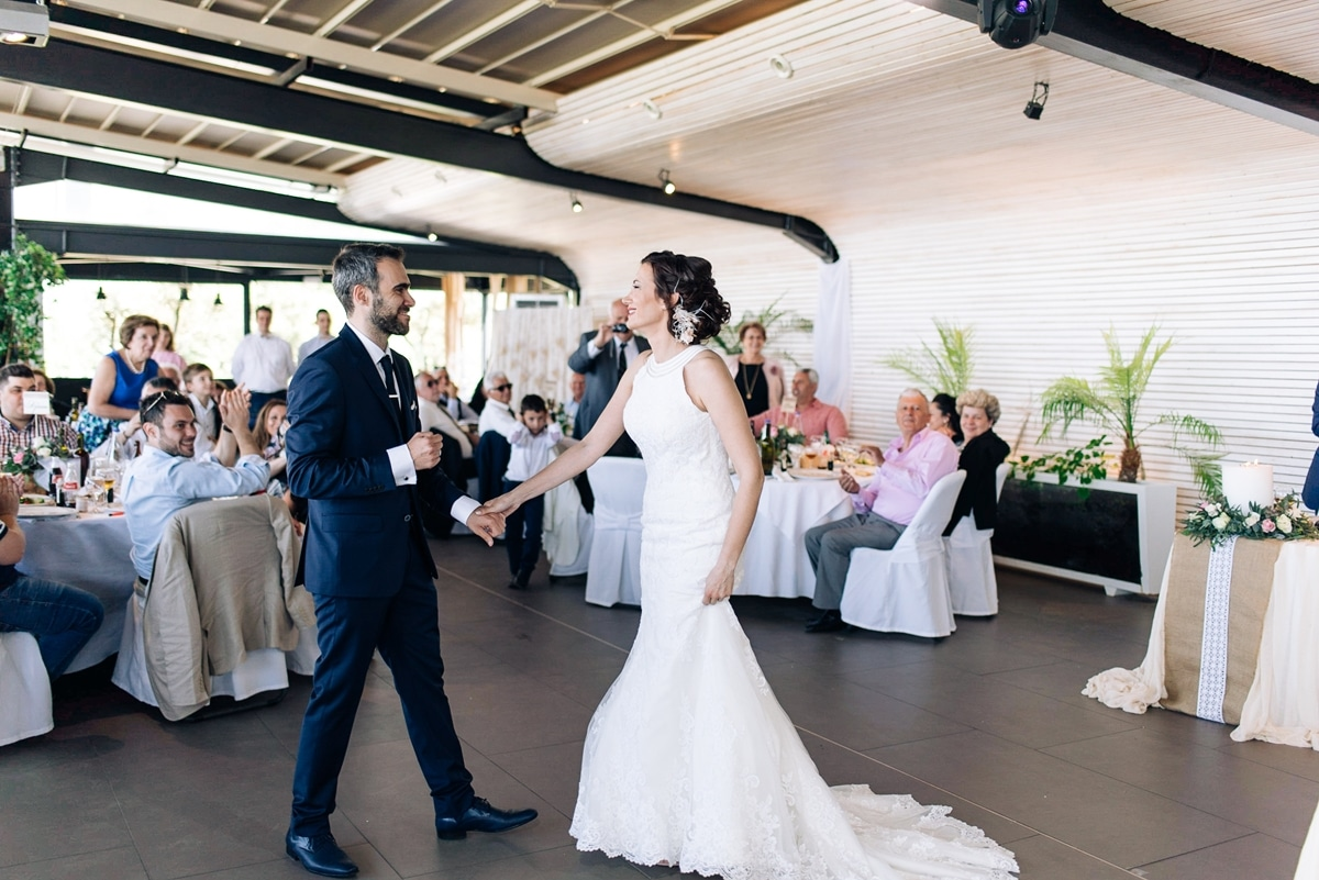 Groom and bride's first dance
