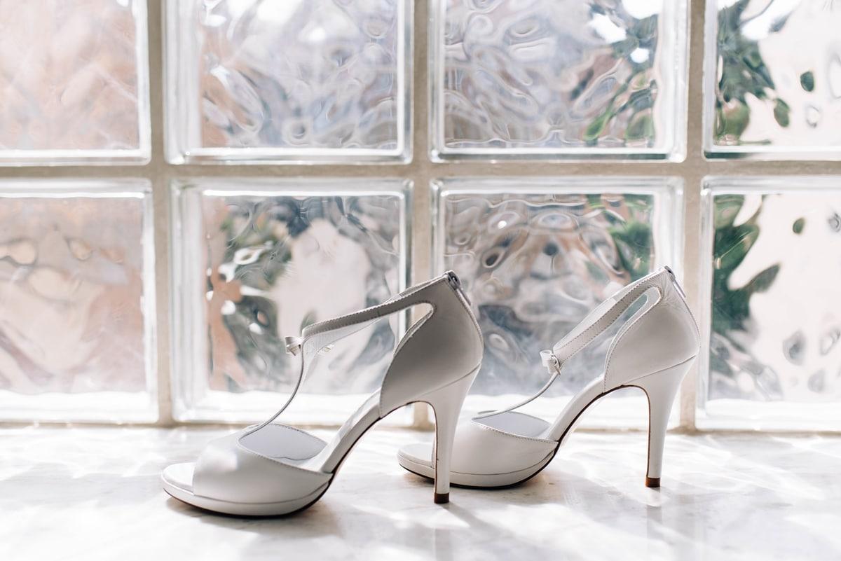 Peep toe mary jane νυφικά παπούτσια