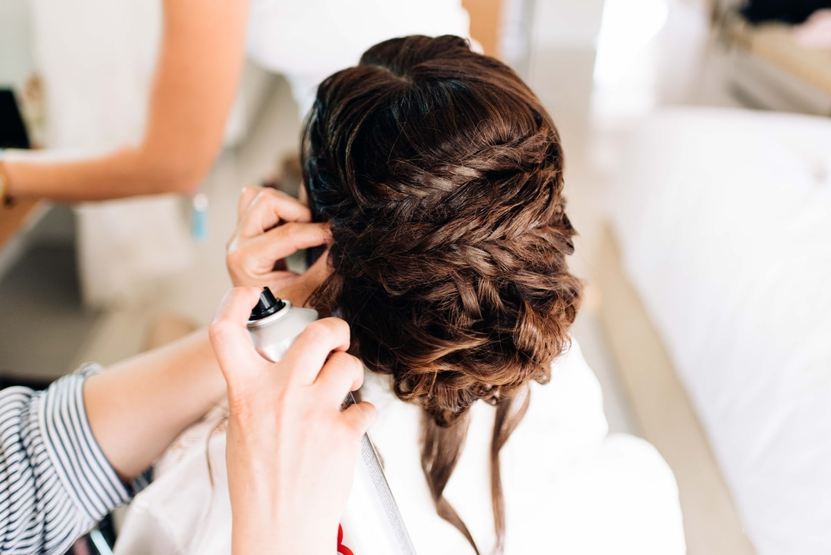 Bridal Hairdo With Lots Of Braids Weddingtales Gr