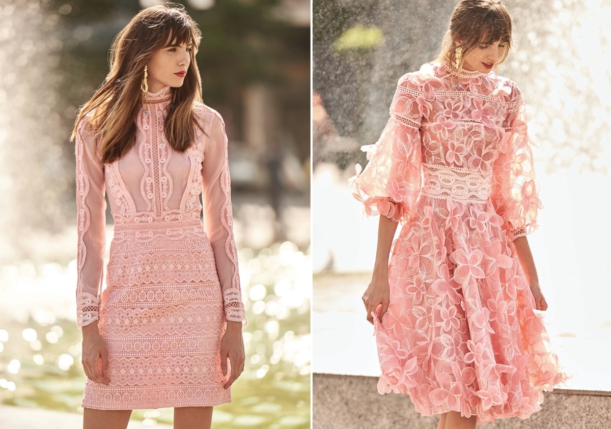 Ideas for pink dresses for the maid of honor