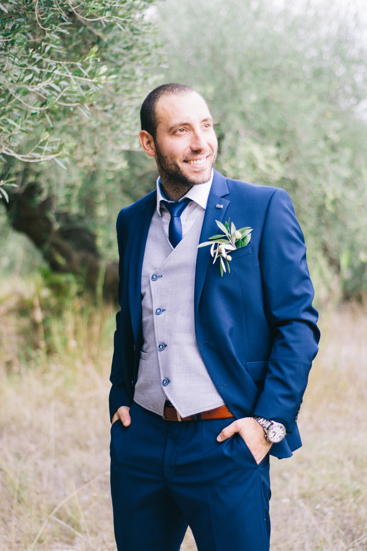 Ideas for groom's blue suit