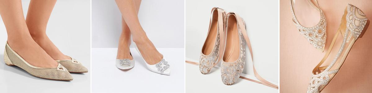 Flat νυφικά παπούτσια