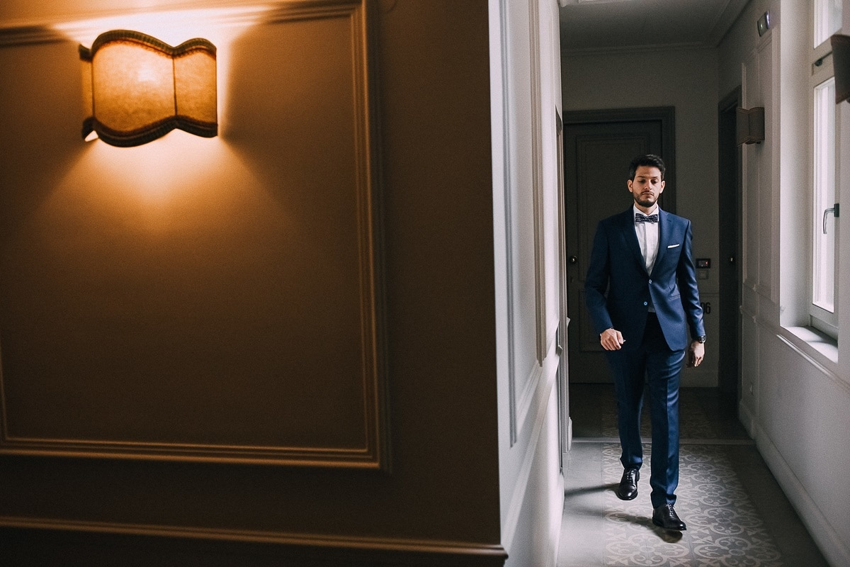 Ideas for dark blue groom's suit