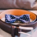 Polka dot bowtie for the groom