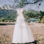 Romantic A line wedding dress with lace Stylianos Atelier