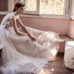 Πουά νυφικό φόρεμα με τούλι Christos Costarellos 2018
