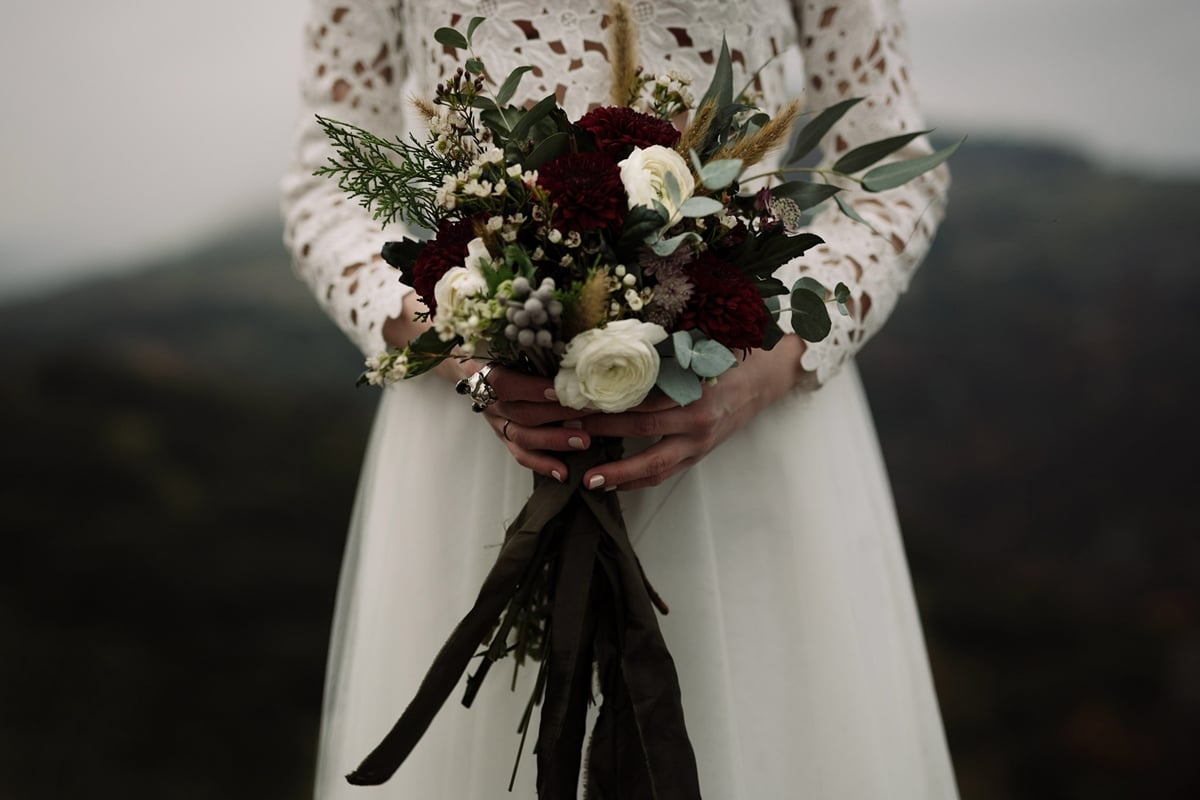 Ideas for winter bridal bouquets