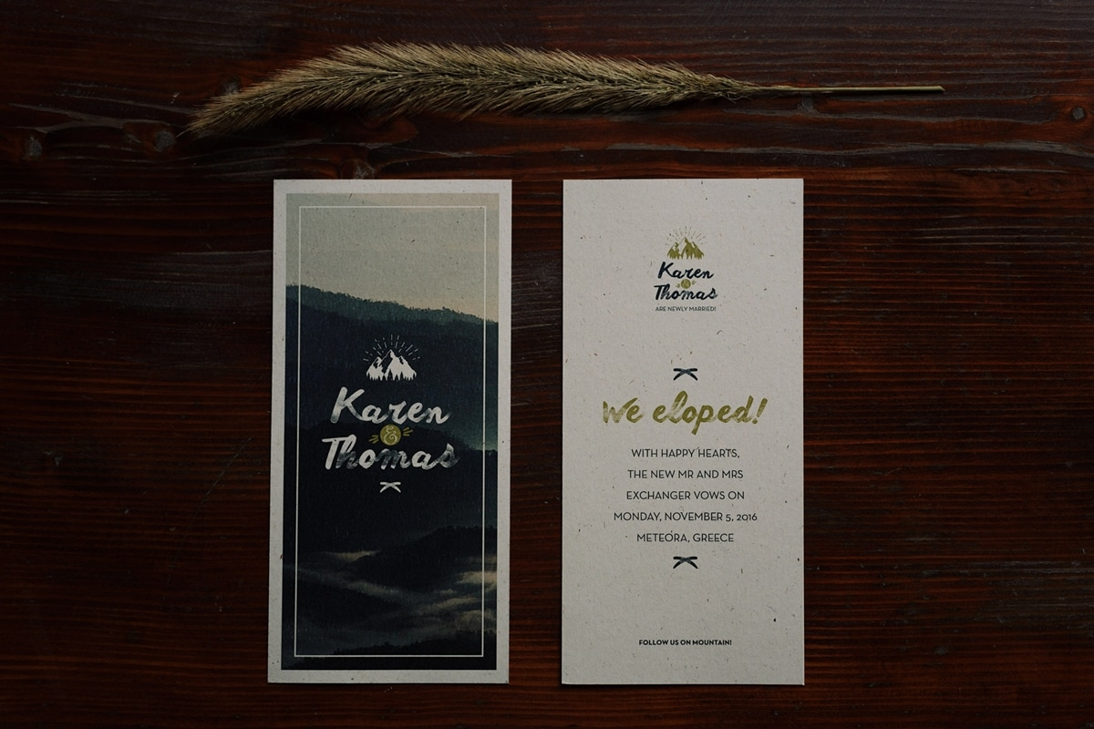 Ideas for winter boho rustic wedding stationery