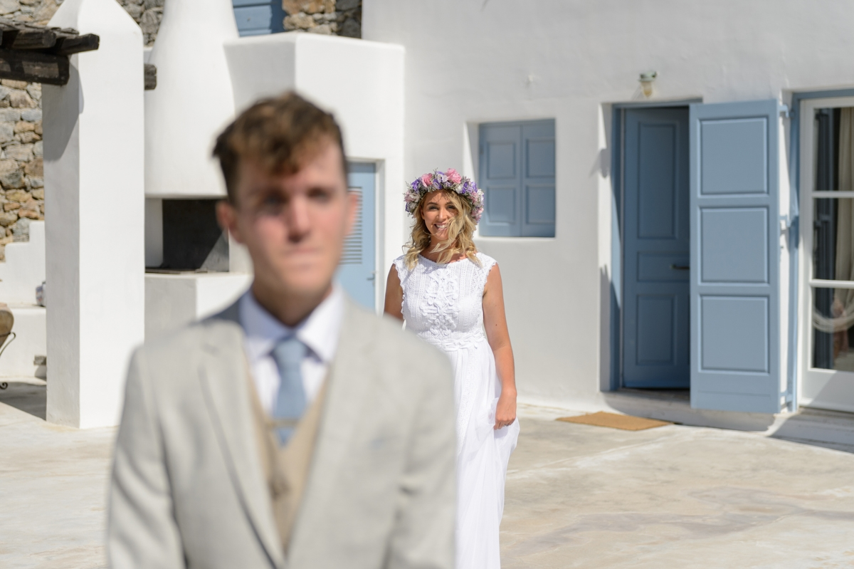 First look νύφης και γαμπρού
