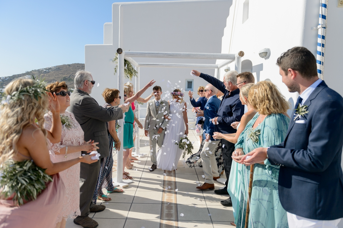 Wedding ceremony in Mykonos