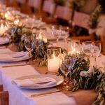 Boho διακόσμηση γάμου με φύλλα ελιάς
