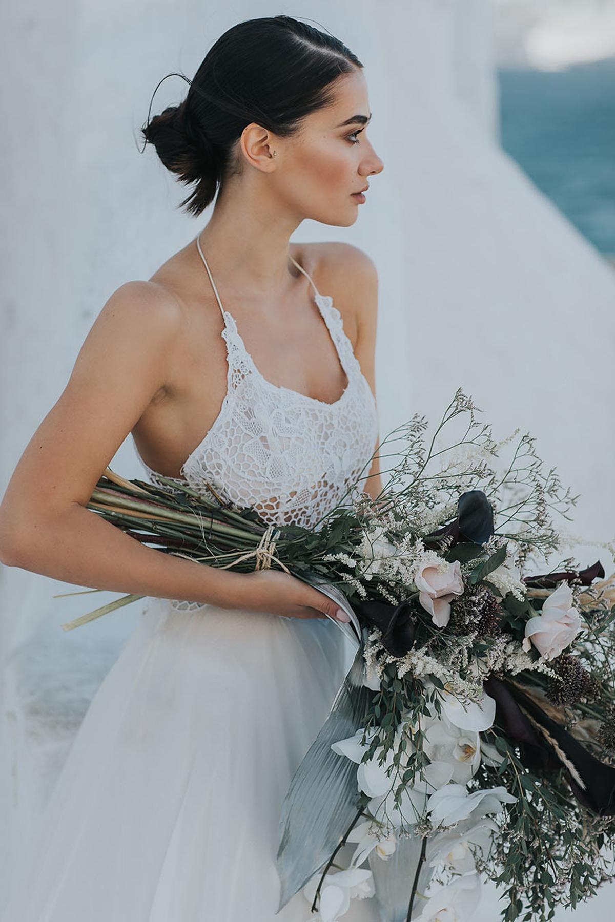 Bridal fashion shoot in Mykonos with Vasia Tzotzopoulou wedding ...