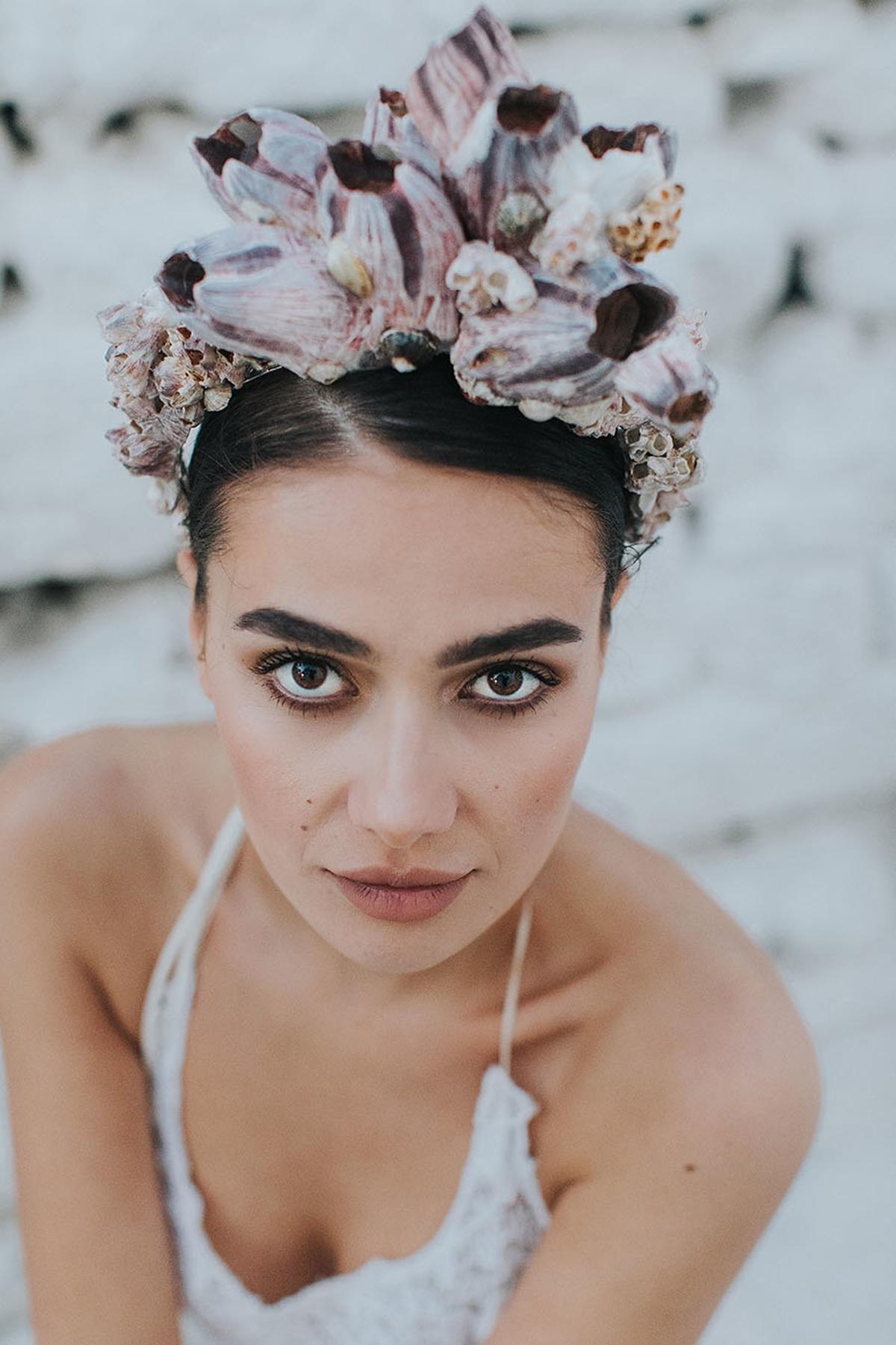 Bridal fashion shoot in Mykonos with Vasia Tzotzopoulou wedding dress