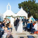 Wedding ceremony in an island Mkonos