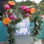 Boho summer glam romantic wedding decoration with roses