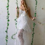 Λευκό αέρινο νυφικό με overskirt Katia Delatola