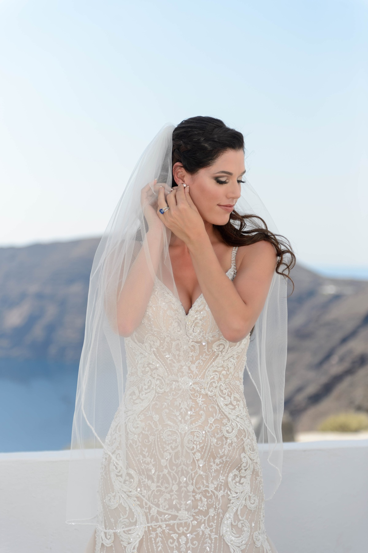 Dreamy summer wedding in Santorini