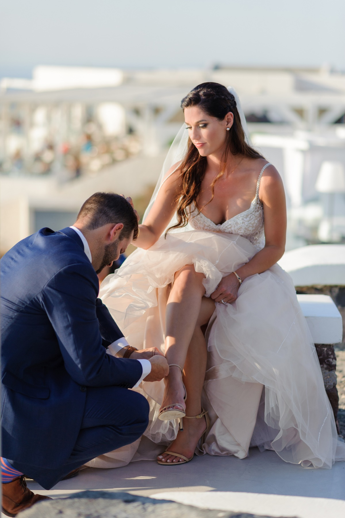 Ονειρεμένος καλοκαιρινός γάμος στη Σαντορίνη phosart photography