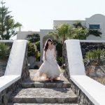 Ονειρεμένος καλοκαιρινός γάμος στη Σαντορίνη