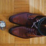 καφέ δετά παπούτσια για το γαμπρό