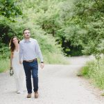 Romantic pre wedding engagement session in the forest Kosmas Chris