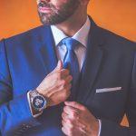 Μπλε κοστούμι για το γαμπρό με μπλε γραβάτα