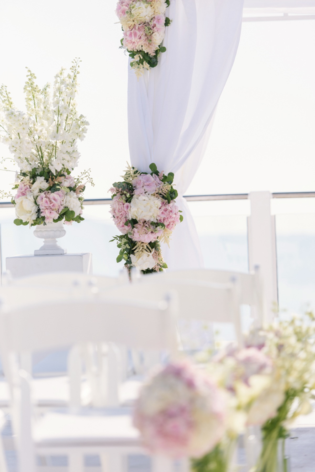 A Pink Wedding In Santorini