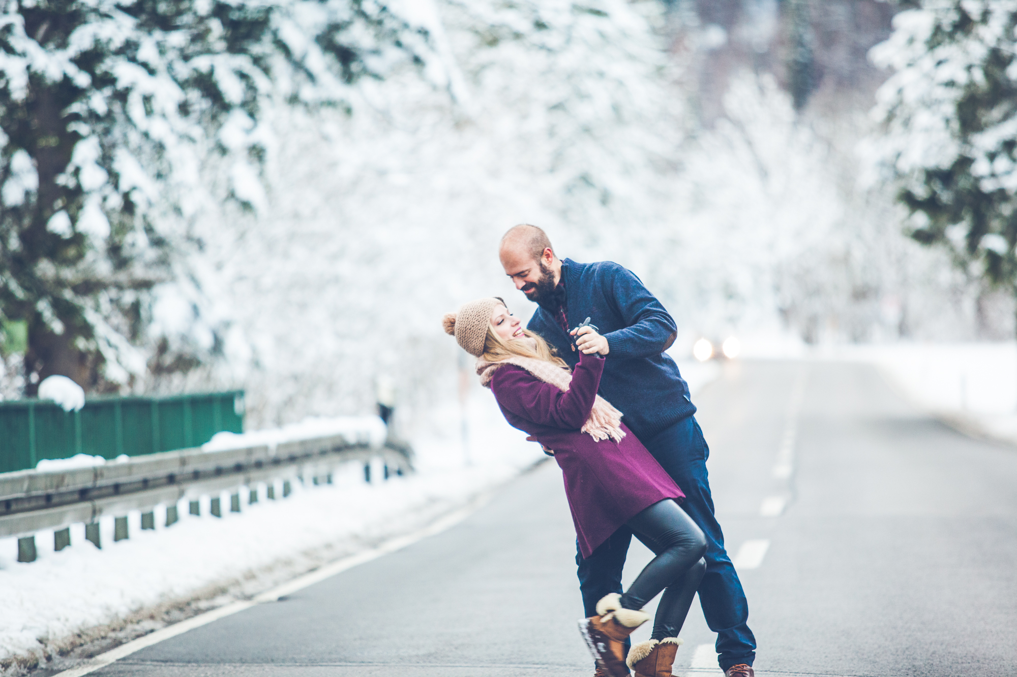 Winter engagement session in Munich