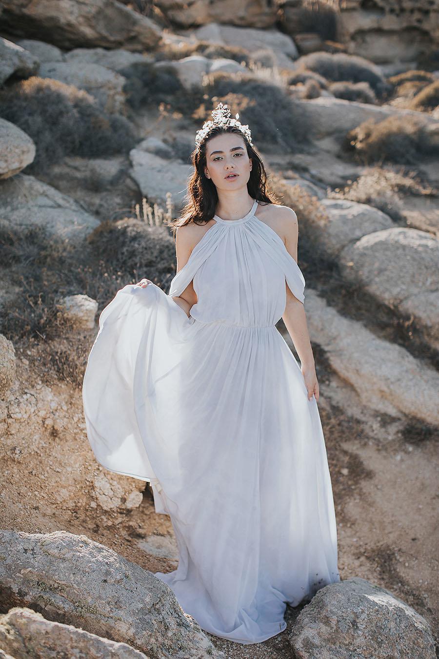 Ancient Greek style wedding dress | The Wedding Tales