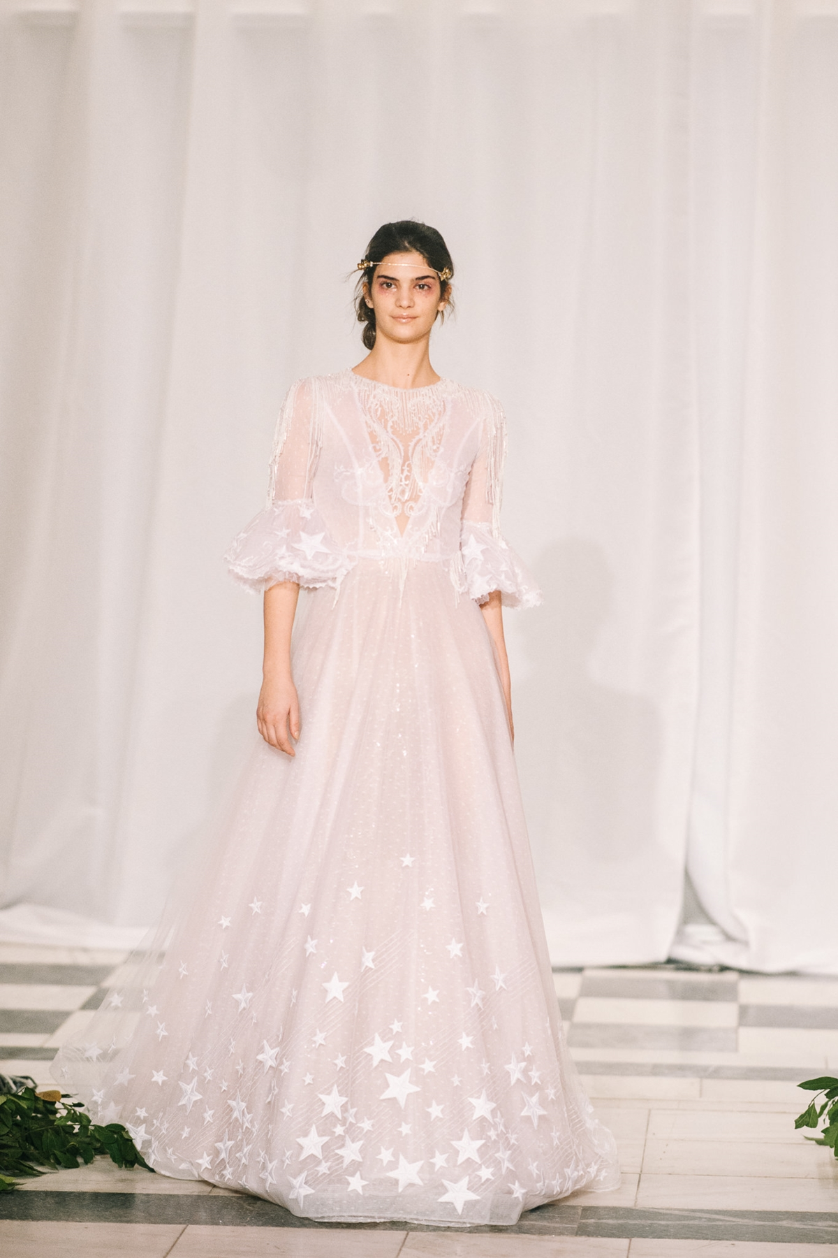 Ethereal wedding dress with 3/4 sleeves Made Bride by Antonea ...