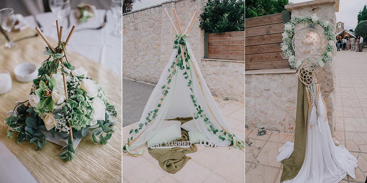 Ρομαντικός γάμος στην Αθήνα με παχύφυτα και κισσό