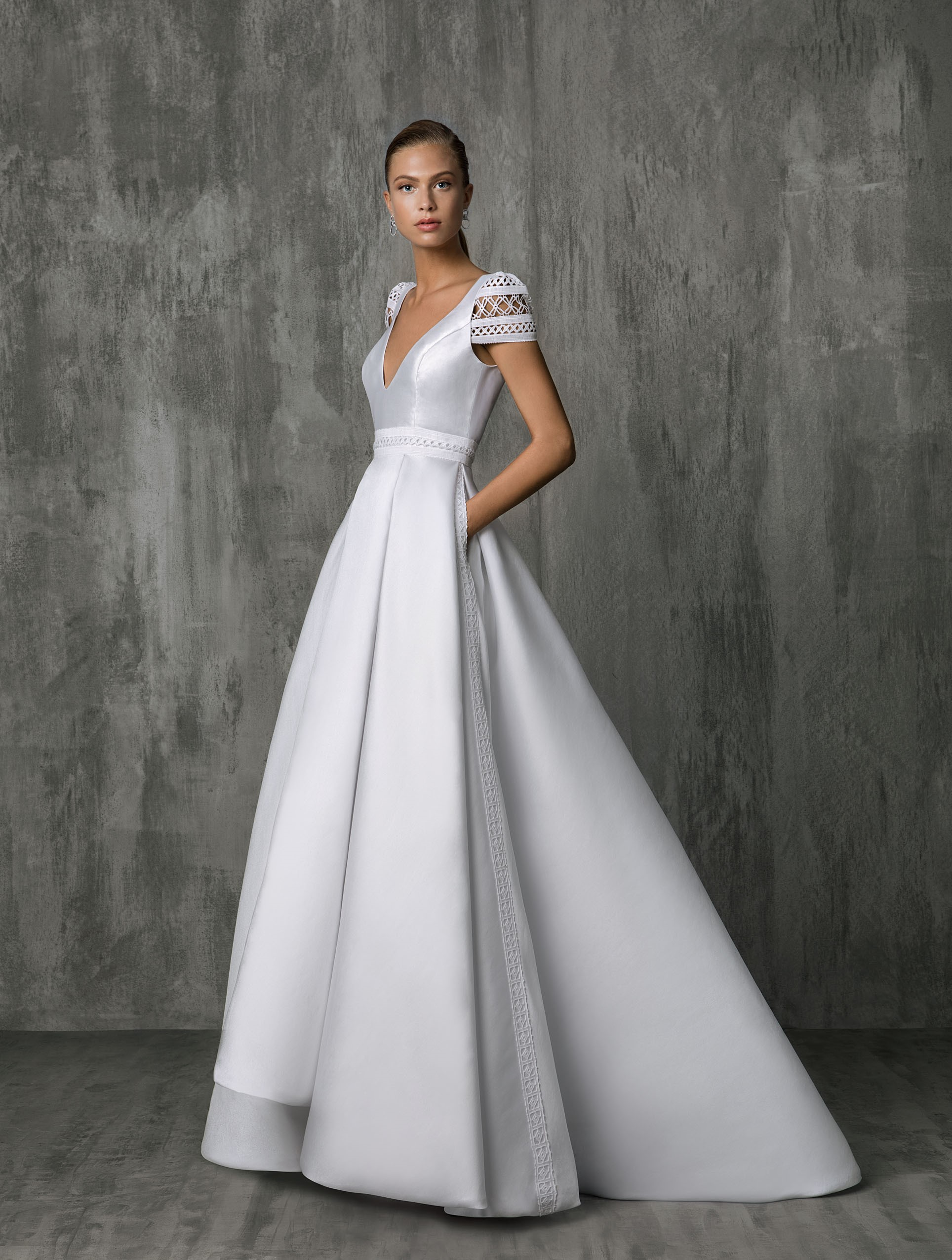 ae584d2fc49 Stunning Victoria Kyriakides wedding dressed