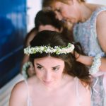 Boho summer wedding with mint and peach touches