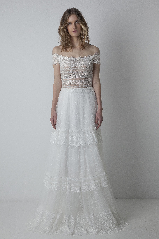 29df404c8ab Eleni Kollarou Atellier bridal collection 2018 Wedding Dress  Eleni  Kollarou Atelier. Boho off shoulders ...