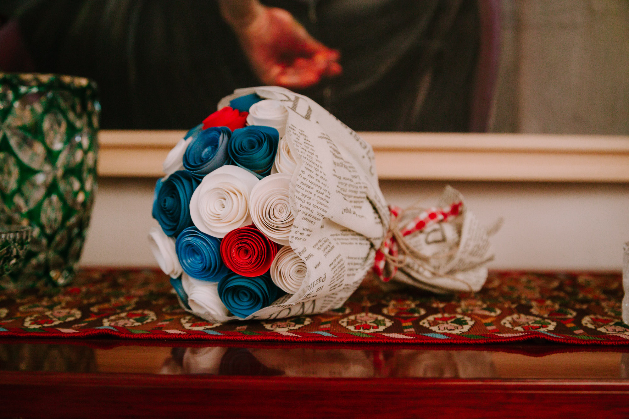 A retro vintage wedding with mint details