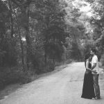 A sweet romantic engagement session in the forest