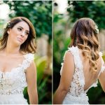 Romantic wedding with pink gold geometric details
