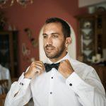 Κοστούμι γαμπρού με μάυρο παπιγιόν Dimitris Petrou